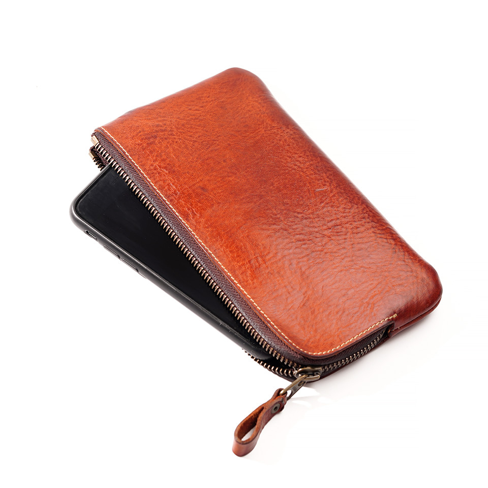 가죽공방 헤비츠 : Hevitz Smartphone Pouch : Corner wallet connected